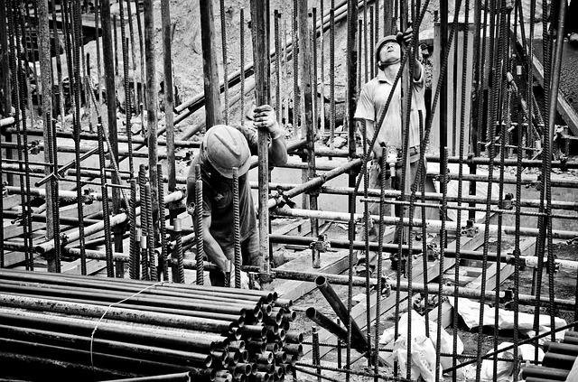 stavba železné konstrukce